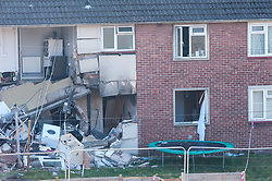 """© Licensed to London News Pictures. FILE PICTURE dated 24/02/2019. JAMES TOOGOOD, age 36 was today 17/03/2020 found guilty at Bristol Crown Court of damaging property being reckless as to whether life was endangered when there was an explosion which caused £260,000 worth of damage to a house in Whitchurch Lane, Bristol. James Toogood, who has 14 previous convictions including robbery, was using butane to make a powerful cannabis derivative known as """"shatter"""". He was remanded in custody until sentencing on Monday. Toogood had admitted producing butane hash oil but said he was not doing so on February 23 2019, the date when there was an explosion at the house he was living in, a council flat at 264 Whitchurch Lane. Laura Hawkins, 39, was also found guilty of permitting a property to be used for the production of a controlled drug of Class B. At the house explosion in Whitchurch Lane, three people received minor injuries and were taken to hospital and much of the house was destroyed. A large trampoline was used to help some people escape. Photo credit: Simon Chapman/LNP."""