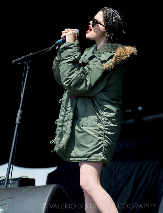 Sky Ferreira during her main set at Field Day in London