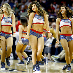 Jan 5, 2017; New Orleans, LA, USA; The Pelicans dance team performs during the second half of a game against the Atlanta Hawks at the Smoothie King Center. The Hawks defeated the Pelicans 99-94. Mandatory Credit: Derick E. Hingle-USA TODAY Sports