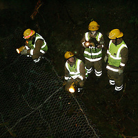 River Tay Search...12.02.07<br /> Firefighters using thermal imaging equipment searching the River Tay under the railway bridge looking for someone who jumped off the Queens Bridge<br /> Picture by Graeme Hart.<br /> Copyright Perthshire Picture Agency<br /> Tel: 01738 623350  Mobile: 07990 594431