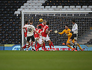 Fulham midfielder, Tom Cairney (10) scoring opening goal of the game during the Sky Bet Championship match between Fulham and Charlton Athletic at Craven Cottage, London, England on 20 February 2016. Photo by Matthew Redman.