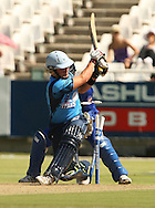 Roelof van der Merwe is bowled during the first leg of the semi-final in the Standard Bank Pro20 series between the Nashua Mobile Cape Cobras and the Nashua Titans played at Sahara Park Newlands in Cape Town, South Africa on 27 February 2011. Photo by Jacques Rossouw/SPORTZPICS