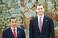 050616 King Felipe VI attends a meeting with President of Peru Ollanta Humala Tasso