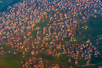 Aerial view of Kathmandu, Nepal.