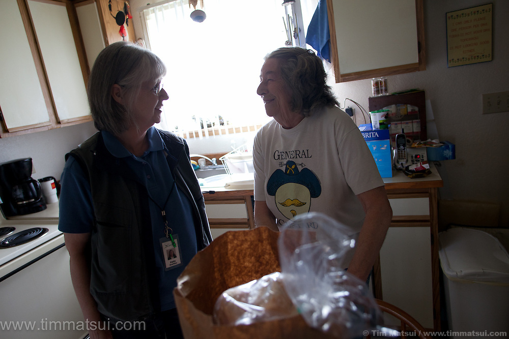 Senior services delivering meals to residents in Snohomish county.