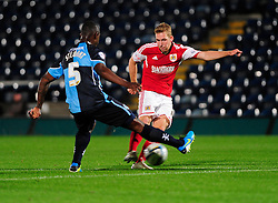 Bristol City's Scott Wagstaff takes a shot - Photo mandatory by-line: Joe Dent/JMP - Tel: Mobile: 07966 386802 08/10/2013 - SPORT - FOOTBALL - London Road Stadium - Peterborough - Peterborough United V Brentford - Johnstone Paint Trophy