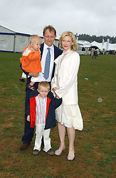 Actress CATE BLANCHETT with her husband and children at the 2005 Cartier International Polo between England & Australia held at Guards Polo Club, Smith's Lawn, Windsor Great Park, Berkshire on 24th July 2005.<br /><br />NON EXCLUSIVE - WORLD RIGHTS