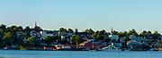 Sunset view of Lunenburg, Nova Scotia, Canada.
