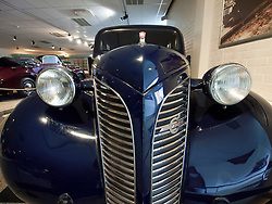 Vintage cars on display at Volvo Museum at Arendal in Gothenburg Sweden