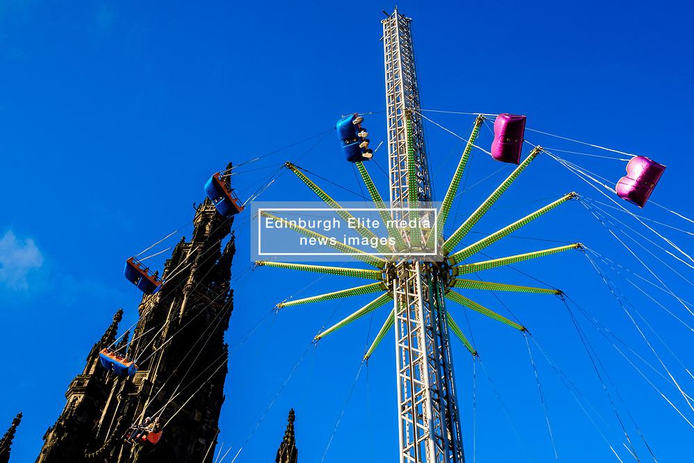 Edinburgh's Christmas 2019: The Star Flyer thrill ride in Princes Street Gardens