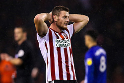 Jack O'Connell of Sheffield United cuts a frustrated figure after his side draw with Sheffield Wednesday - Mandatory by-line: Robbie Stephenson/JMP - 09/11/2018 - FOOTBALL - Bramall Lane - Sheffield, England - Sheffield United v Sheffield Wednesday - Sky Bet Championship