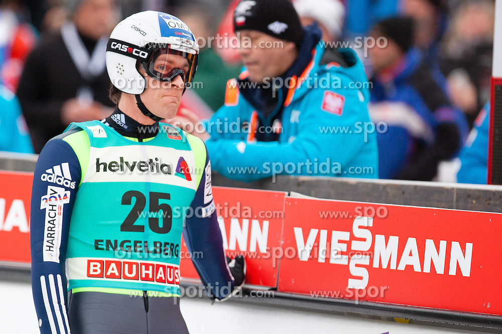 22.12.2013, Gross Titlis Schanze, Engelberg, SUI, FIS Ski Jumping, Engelberg, Herren, im Bild Jan Matura (CZE) // during mens FIS Ski Jumping world cup at the Gross Titlis Schanze in Engelberg, Switzerland on 2013/12/22. EXPA Pictures &copy; 2013, PhotoCredit: EXPA/ Eibner-Pressefoto/ Socher<br /> <br /> *****ATTENTION - OUT of GER*****