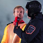 DUI/Hinterzarten/20130212 - Opname Vliegende Hollanders 2013 - Sterren van de Schans, Nicola Liebart en Gerard Joling