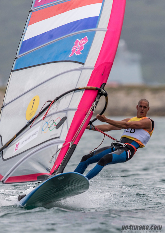 GOLD:<br /> Van Rijsselberge Dorian, (NED, RS:X Men)<br /> <br /> 2012 Olympic Games <br /> London / Weymouth