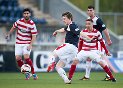 Falkirk's Blair Alston shots.<br /> Falkirk 1 v 1 Hamilton, Scottish Premiership play-off semi-final first leg, played 13/5/2014 at the Falkirk Stadium.