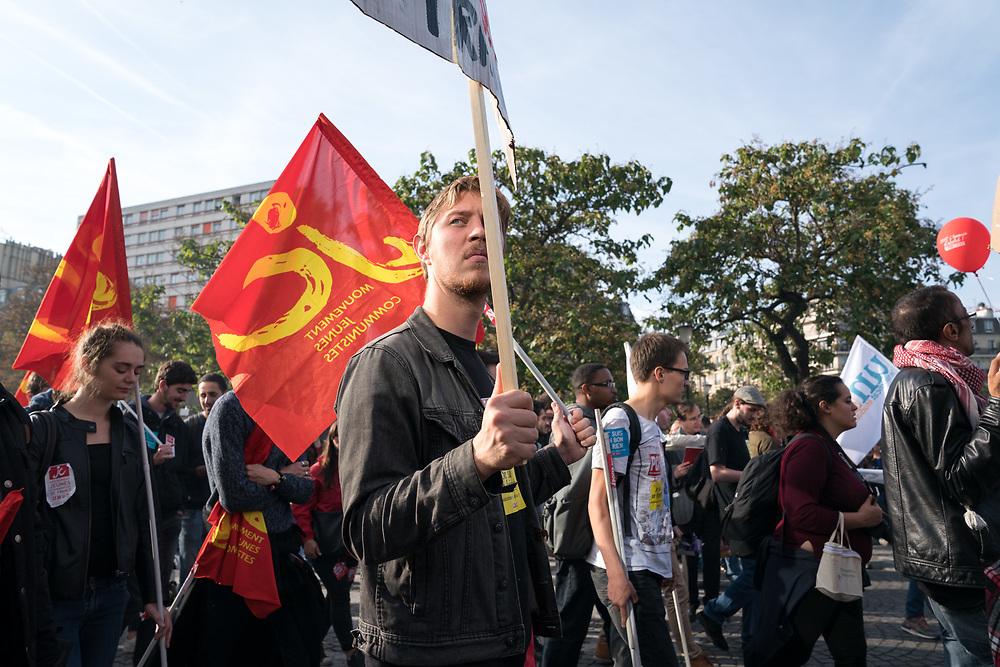 France, Paris, 21 September 2017. Labor law reform protest.
