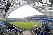 The American Express Community Stadium before during the Sky Bet Championship match between Brighton and Hove Albion and Huddersfield Town at the American Express Community Stadium, Brighton and Hove, England on 23 January 2016.