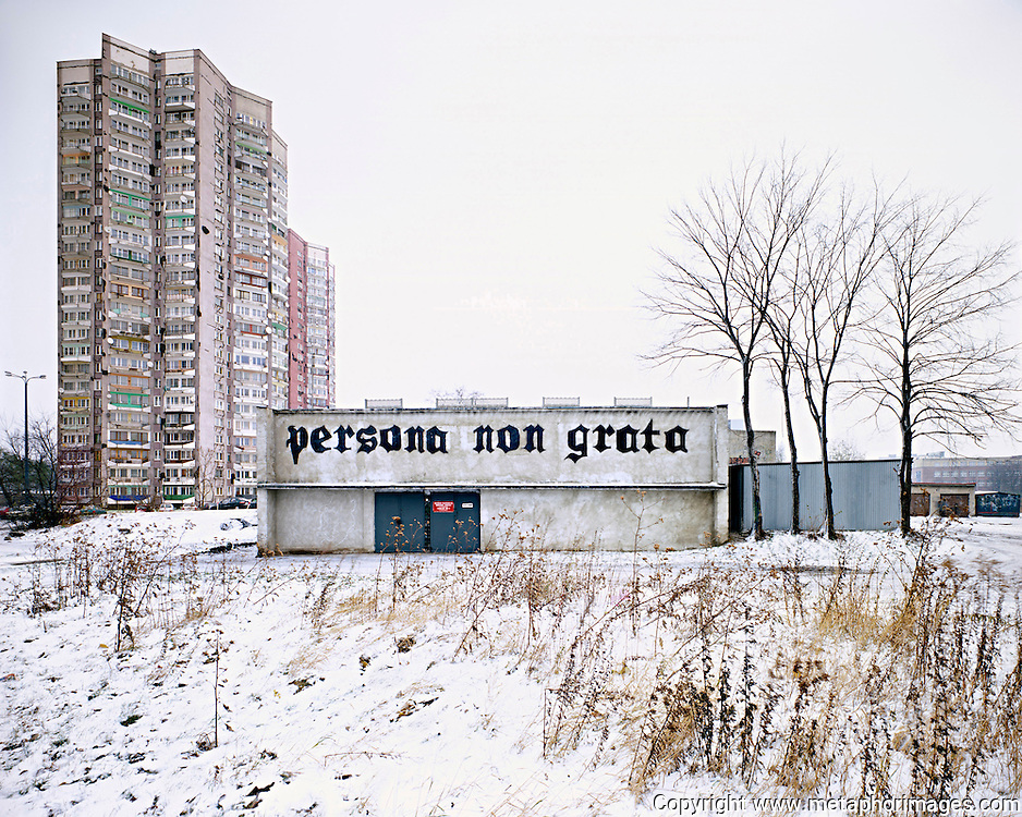 Persona Non Grata, Poland, 2004. <br /> The industrial region of Silesia is a landscape under transformation. Many old industrial sites are now large shopping centres. Some more novel interventions include the conversion of tailings dumps into ski resorts. <br /> <br /> <br /> Wastelands is a journey into abandoned and transient spaces in Australia and Europe. Over a number of years I&rsquo;ve travelled with a large format camera to record some of the unusual ways that buildings decline, and the more unusual ways that space is reordered. <br /> <br /> A common practice is to transform abandoned industrial sites into modern centres of consumption. Old industrial centres often find new life as shopping centres. But family fun parks in abandoned nuclear power stations and the prospect of a European wilderness in Chernobyl reveal that landscape is never a finished project, nor what we always expect.<br /> <br /> Large format photography has had a long association with architecture and landscape. It expands detail and corrects perspective, often recording more than we can actually see, compelling us to look longer.