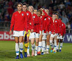 October 11, 2018 - Cary, North Carolina, United States - CARY, NC - OCTOBER 10: .Alex Morgan of USA.During CONCACAF Women's Championship Group A match between Trinidad and Tobago against USA at Sahlen's Stadium, Cary, North Carolina. on October 10, 2018  (Credit Image: © Action Foto Sport/NurPhoto via ZUMA Press)