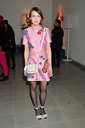 ELLA CATLIFF at the Future Contemporaries Party in association with Coach at The Serpentine Sackler Gallery, West Carriage Drive, Kensington Gardens, London on 21st February 2015.