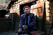 A man in his home in Yuanyang, Yunnan, China