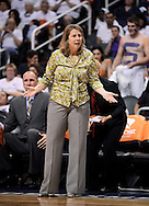 Sep 29, 2013; Phoenix, AZ, USA; Minnesota Lynx head coach Cheryl Reeve on the sidelines during the game against the Phoenix Mercury in the first half at US Airways Center. Mandatory Credit: Jennifer Stewart-USA TODAY Sports