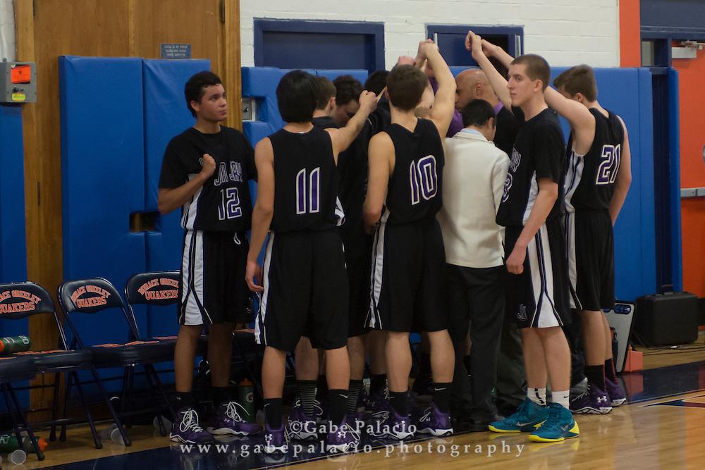 John Jay Varsity Basketball game at Horace Greeley High School on January 13, 2015. (photo by Gabe Palacio)
