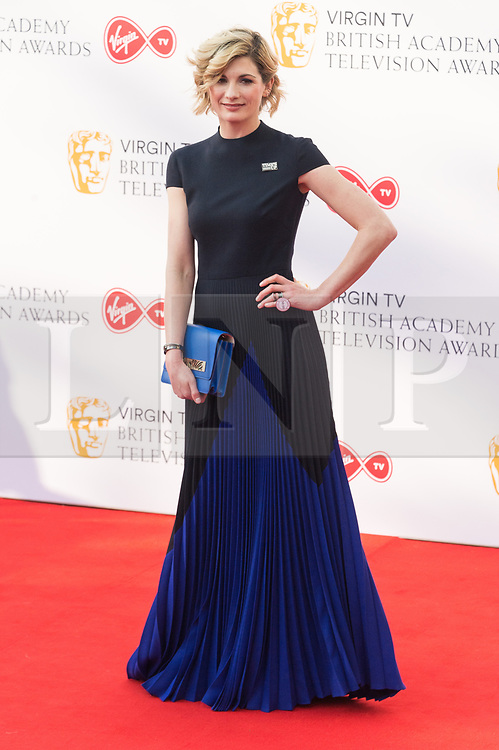© Licensed to London News Pictures. 13/05/2018. London, UK. JODIE WHITTAKER  arrives for the Virgin TV British Academy (BAFTA) Television Awards. Photo credit: Ray Tang/LNP