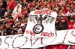 01.11.2011, Signal Iduna Park, Dortmund, GER, UEFA Champions League, Vorrunde, Borussia Dortmund (GER) vs Olympiacos Piraeus (GRE), im Bild Fans Piraeus // during Borussia Dortmund (GER) vs Olympiacos Piraeus (GRE) at Signal Iduna Park, Dortmund, GER, 2011-11-01. EXPA Pictures © 2011, PhotoCredit: EXPA/ nph/  Kurth       ****** out of GER / CRO  / BEL ******