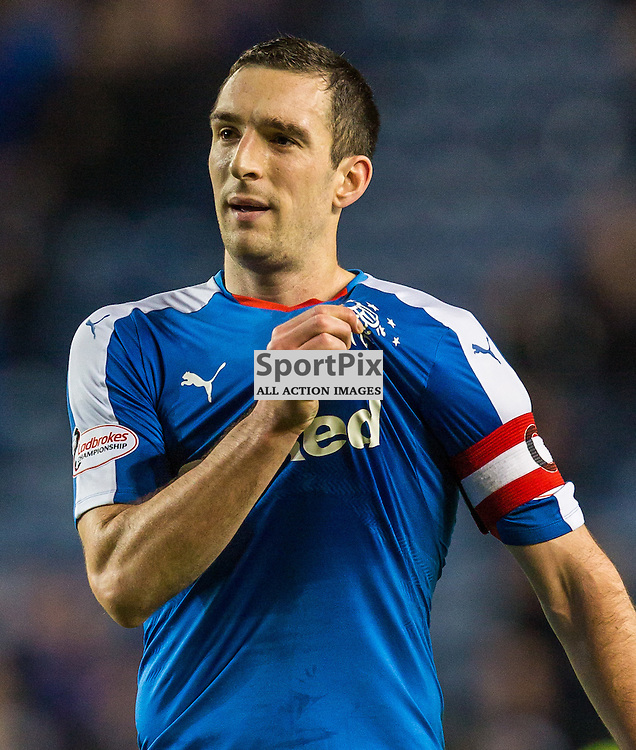 Lee Wallace celebrates after the match between Rangers and Hibernian (c) ROSS EAGLESHAM | Sportpix.co.uk