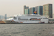 Star Cruises ship the Star Pisces docked at the Cruise Ship Terminal Hong Kong.