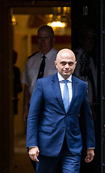 © Licensed to London News Pictures. 30/04/2018. London, UK. New Home Secretary SAJID JAVID leaves 10 Downing Street. Amber Rudd resigned from the position on Sunday 29 April. Photo credit: Rob Pinney/LNP