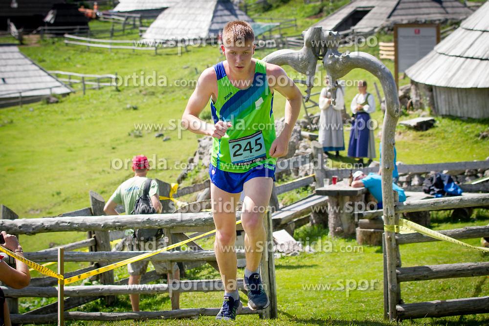 Nejc Uršič at European mountain running championships in Kamnik / Velika planina on 8th July 2017. Photo by: Peter Kastelic / Sportida