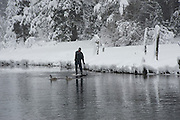 """Winter SUP on the Truckee River 9"" - Peter Spain Stand Up Paddleboarding on the Truckee River"