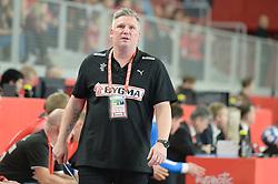 Nicolaj Jacobsen, head coach of Denmark during handball match between National teams of Denmark and Hungary on Day 2 in Preliminary Round of Men's EHF EURO 2018, on Januar 13, 2018 in Skolsko Sportska Dvorana, Varazdin, Croatia. Photo by Mario Horvat / Sportida