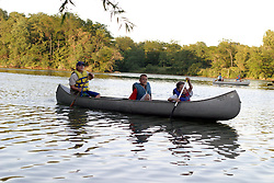 19 July 2005,  Boy Scout Troop 3 of Bloomington practices canoeing techniques in anticipation of a river trip in August.  Training was held at Dawson Lake, Moraine View State Park north of LeRoy IL