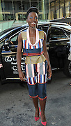 Lupita Nyong'o arrives in a Lexus to the CFDA 2014 Fashion Awards, Monday June 2, 2014 in New York. (Photo by Diane Bondareff/Invision for Lexus/AP Images)