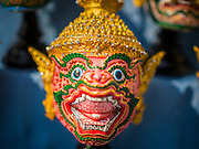 19 APRIl 2014 - BANGKOK, THAILAND: A Hanuman mask at the Rattanakosin Festival in Bangkok. Hanuman is the Monkey God, figures prominently in the Ramakien, the Thai version of the Indian Ramayana. Rattanakosin is the name of the man made island that is the heart of the old city. Bangkok was formally founded as the capital of Siam (now Thailand) on 21 April 1782 by King Rama I, founder of the Chakri Dynasty. Bhumibol Adulyadej, the current King of Thailand, is Rama IX, the ninth King of the Chakri Dynasty. The Thai Ministry of Culture organized the Rattanakosin Festival on Sanam Luang, the royal parade ground in the heart of the old part of Bangkok, to celebrate the city's 232nd anniversary.    PHOTO BY JACK KURTZ