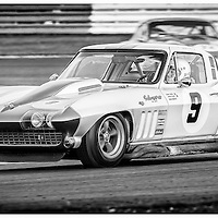 #9, Chevrolet Corvette Stingray, Craig Davies, International Trophy for Classic GT Cars (Pre '66), Silverstone Classic 2016, Silverstone Circuit, England. U.K.