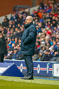 Kilmarnock FC Manager Steve Clarke during the Ladbrokes Scottish Premiership match between Rangers and Kilmarnock at Ibrox, Glasgow, Scotland on 16 March 2019.