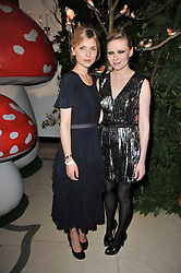 Left to right, CLEMENCE POSEY and KIRSTEN DUNST at Mulberry's party following their fashion show as part of London Fashion Week Autumn Winter Collection 2011 held at Claridges, Brook Street, London on 20th February 2011.