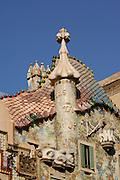 The roof of Casa Batlló,(1905 by Antoni Gaudi architect),Barcelona,Spain