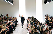Designer Michael Kors appears after his Mercedes-Benz Fall/Winter 2015 show at Spring Studios in New York City, New York on February 18, 2015.