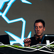 May 17, 2013 - Queens, NY :  Dubfire performs during the first day of the 2013 New York 'Electric Daisy Carnival,' an electronic dance music festival, at Citi Field in Queens, on Friday. CREDIT: Karsten Moran for The New York Times CREDIT: Karsten Moran for The New York Times