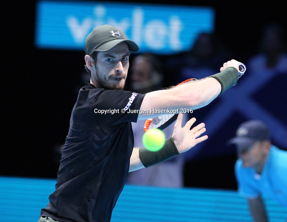 ANDY MURRAY (GBR), ATP World Tour Finals, O2 Arena, London, England.<br /> <br /> Tennis - ATP World Tour Finals 2016 - ATP -  O2 Arena - London -  - Great Britain  - 14 November 2016. <br /> &copy; Juergen Hasenkopf/Grieves