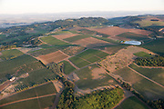 Aerial view over Eola Hills AVA wineries, Willamette Valley, Oregon
