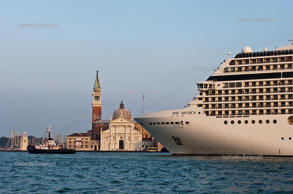 Venice, Italy, sept. 2009. Cruise in bacino San Marco in front of San Giorgio island.