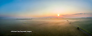 63893-03501 Sunrise in rural Illinois - panoramic aerial - Marion Co. IL