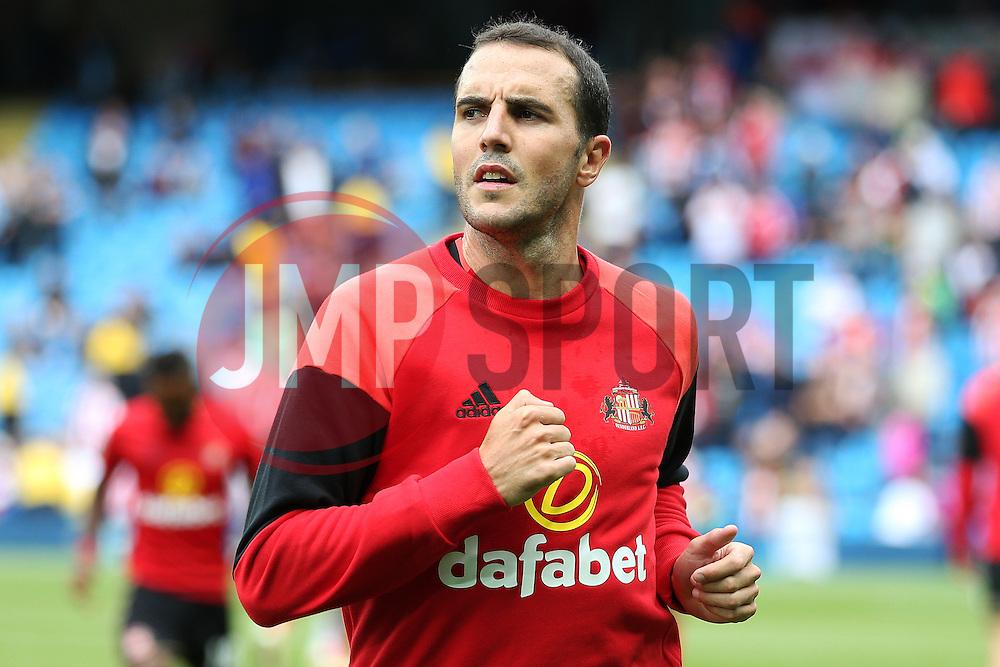 John O'Shea of Sunderland warms up - Mandatory by-line: Matt McNulty/JMP - 13/08/2016 - FOOTBALL - Etihad Stadium - Manchester, England - Manchester City v Sunderland - Premier League