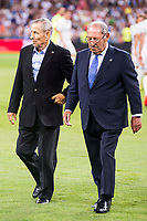 Paco Gento and Raymond Kopa during the XXXVII Santiago Bernabeu Trophy in Madrid. August 16, Spain. 2016. (ALTERPHOTOS/BorjaB.Hojas)